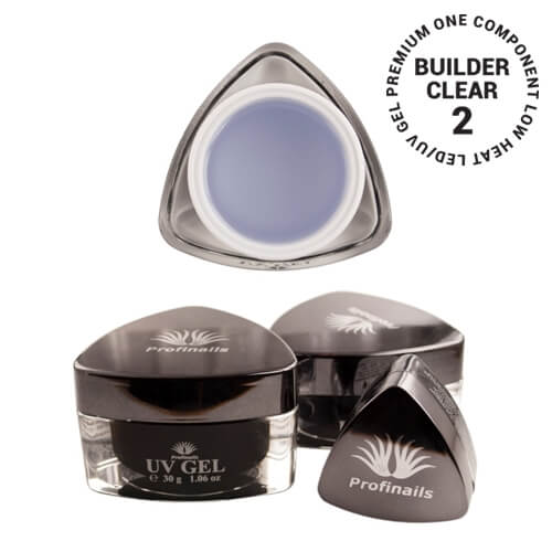 .Profinails UV Builder clear zselé #2 (Low Heat, LED/UV) 30 g