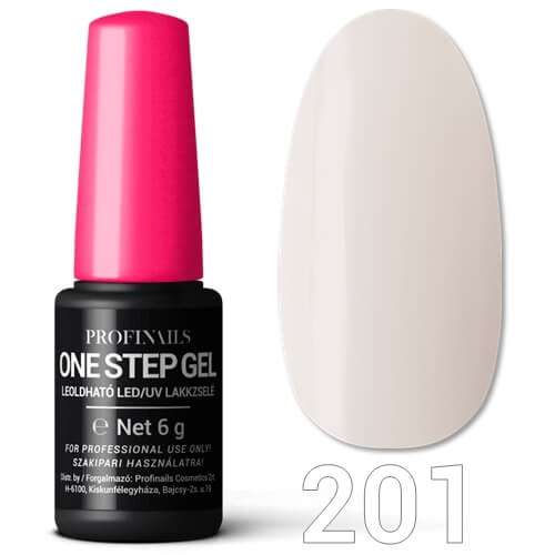 Profinails  One Step Gel LED/UV lakkzselé 6gr No.201