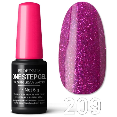 Profinails  One Step Gel LED/UV lakkzselé 6gr No.209