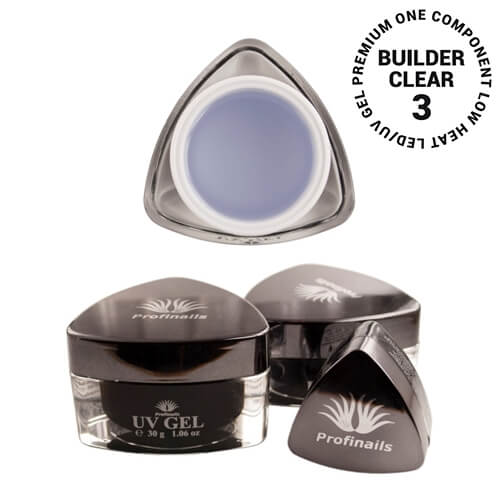 .Profinails UV Builder clear zselé #3 (Low heat, LED/UV)  5 g