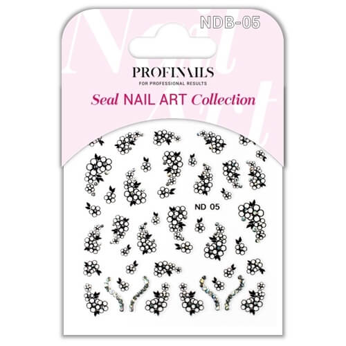 .Profinails Seal Nail Art matrica ND Black No. 05