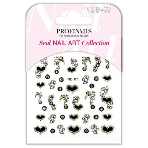 .Profinails Seal Nail Art matrica ND Black No. 07