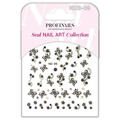 .Profinails Seal Nail Art matrica ND Black No. 09