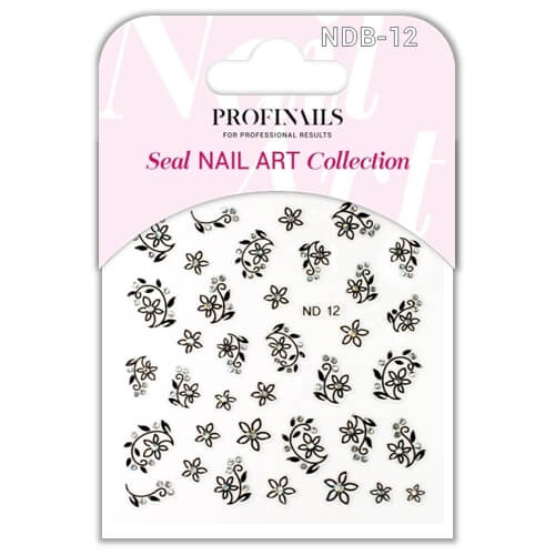 .Profinails Seal Nail Art matrica ND Black No. 12
