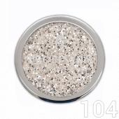 Profinails Pure Silver glitter 3g No.104 (ezüst árnyalat)