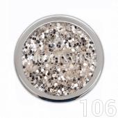 Profinails Pure Silver glitter 3g No.106 (ezüst árnyalat)