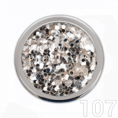 Profinails Pure Silver glitter 3g No.107 (ezüst árnyalat)