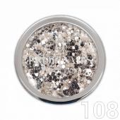 Profinails Pure Silver glitter 3g No.108 (ezüst árnyalat)