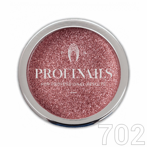 Profinails Mirror Powder csillámpor 1g Króm Rose Gold No.702