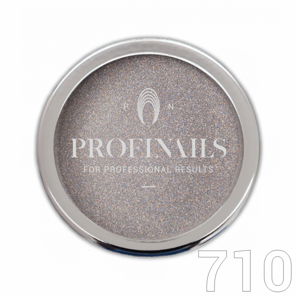 Profinails Mirror Holographic Powder csillámpor 1g Unicorn Silver No. 710