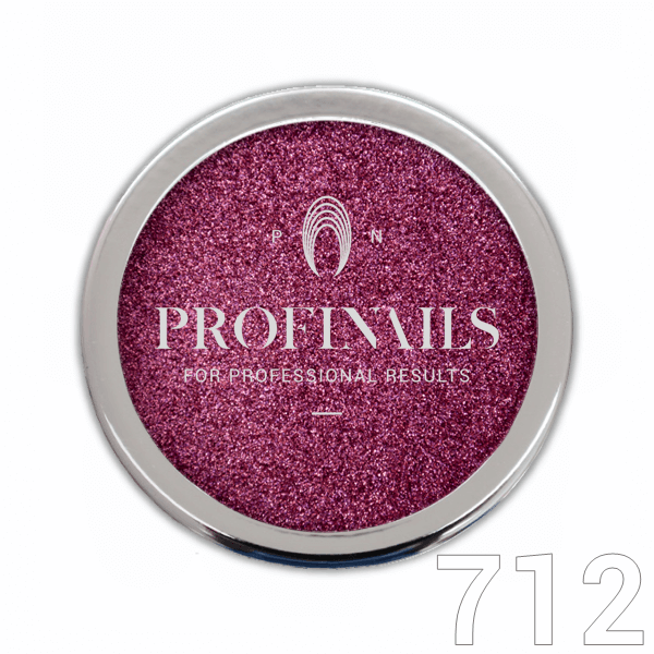 Profinails Mirror Holographic Powder csillámpor 1g Unicorn Rose Gold No. 712