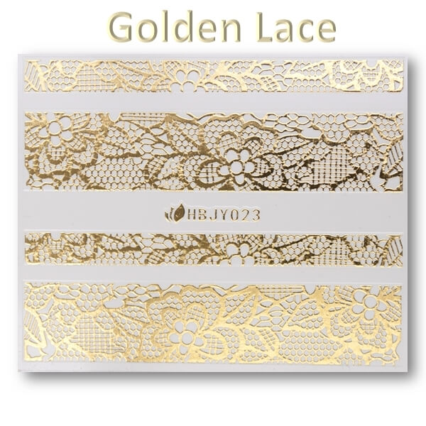 3D Gold Lace matrica No-07-HBJY-023