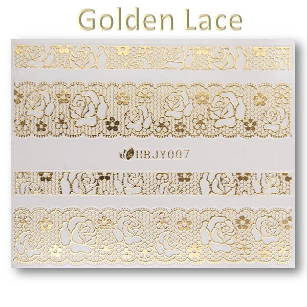 3D Gold Lace matrica No-05-HBJY-007