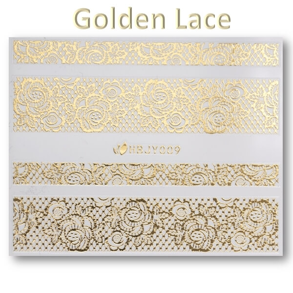 3D Gold Lace matrica No-05-HBJY-009