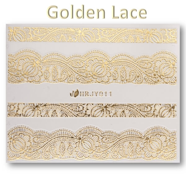 3D Gold Lace matrica No-05-HBJY-011