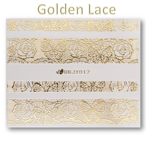 3D Gold Lace matrica No-05-HBJY-012