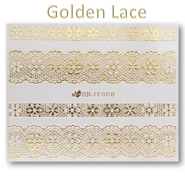 3D Gold Lace matrica No-05-HBJY-008
