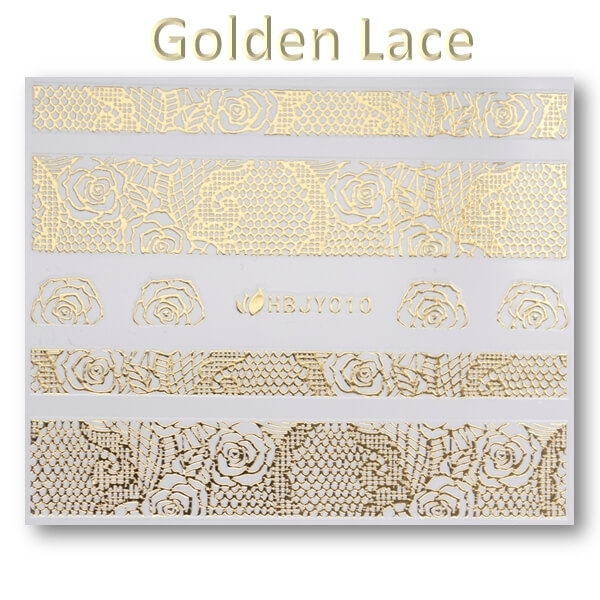 3D Gold Lace matrica No-05-HBJY-010