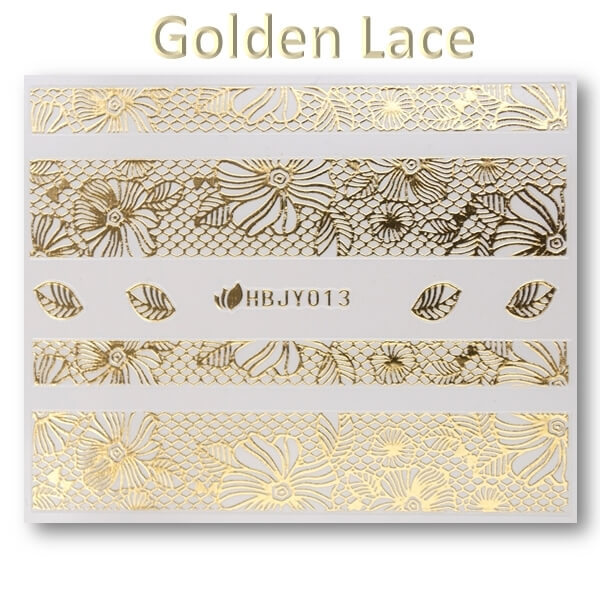 3D Gold Lace matrica No-07-HBJY-013