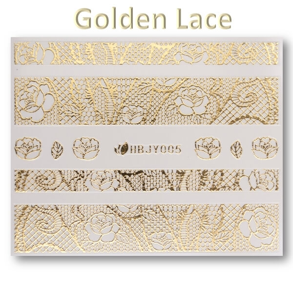 3D Gold Lace matrica No-05-HBJY-005