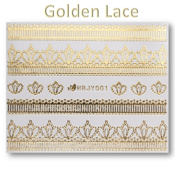 3D Gold Lace matrica No-05-HBJY-001