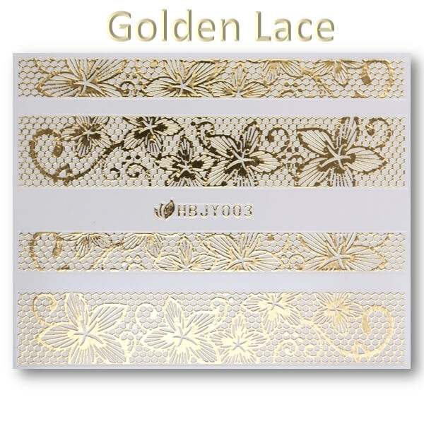 3D Gold Lace matrica No-05-HBJY-003