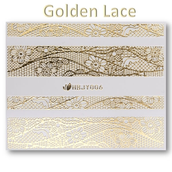 3D Gold Lace matrica No-05-HBJY-006