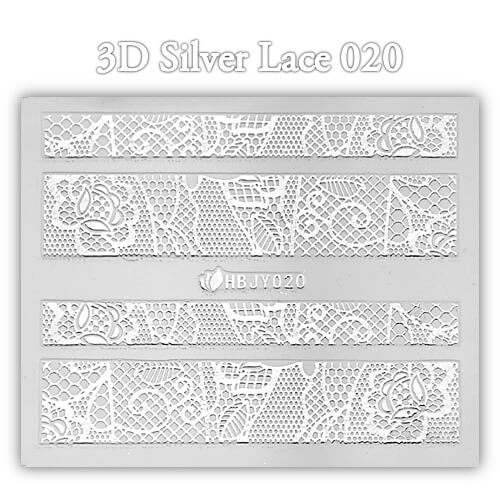 3D Silver Lace matrica No-13-HBJY-020
